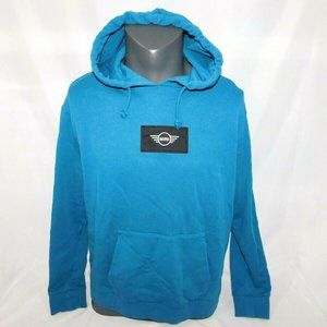 Mini Cooper Womens L Teal Wing logo Patch Hoodie